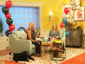 "Me and Chilly on the set of Daytime TV show, talking what parents should know about the ""big game."""