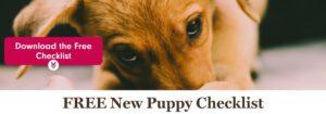 FREE New Puppy Checklist