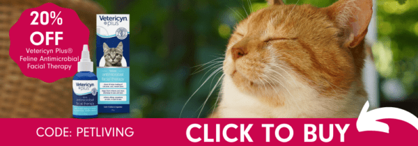Get 20% off Feline Facial Therapy with code PETLIVING.